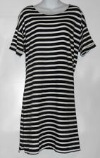 L.O.G.G. H&M Ladies Striped Cotton Shift Dress Navy & White XL NWT