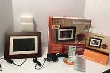 Smartparts Digital Picture Frame 7 Inch Up To 3000 Pictures Wood Look