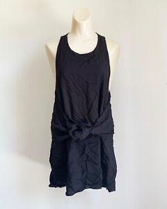 Final Touch Women's Black Sleeveless Wrap Around Top - Size Medium