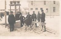 D85/ Occupational RPPC Real Photo Postcard c1910 Sawmill Electric Workers 10