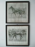 Two framed 1920's trotting prints Trotter champions Hanover's Bertha and Doane