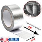 Silver Exhaust Heat Wrap Manifold Downpipe High Temp Bandage Tape 5M*5cm UK