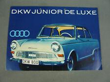 WERBE FALT PROSPEKT BROSCHÜRE DKW JUNIOR DE LUXE 1961 - 1963   #2