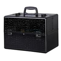 "New 14"" Pro Aluminum Makeup Train Case Jewelry Box Cosmetic Organizer Lockable"