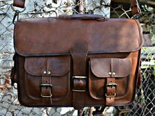 Vintage Men's Genuine Leather Briefcase Messenger Shoulder Bag Handbag Business