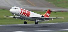 Fokker 100 TAM Linhas Aereas Airplane Wood Model Free Ship Small