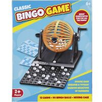 Traditional 90 Ball Bingo Family Game Set Cage Balls Cards Counter Lotto Lottery