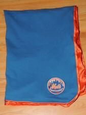 NEW YORK NY METS BABY BLANKET BLUE ORANGE PATCH LOVEY SECURITY BASEBALL
