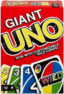 Mattel Games UNO Classic Giant Card Game  GPJ46 Family Card Game Oversized Cards