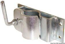 Supporto Staffa per ruotino carrello rimorchio ITALY in acciaio zincato rinforza