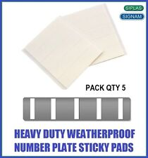 Qty 5 Signam 1mm Double Sided Self Adhesive Sticky Number Plate Pads Stickers