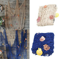 Nautical Fishing Net Seaside Wall Beach Party Sea Shells Home Garden Decor UK