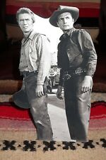 "Rawhide Clint Eastwood & Eric Fleming Western Tabletop Display Standee 10"" Tall"