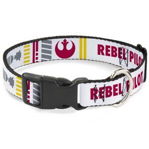 Plastic Clip Collar Star Wars REBEL PILOT Rebel Alliance Insignia/Lightsaber