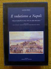 LUCIO FINO - VEDUTISMO A NAPOLI - Campania Pozzuoli Vesuvio gouache Posillipo