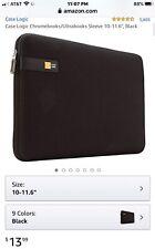 """Case Logic Black 10-11.6"""" Netbook Sleeve - LAPS111"""