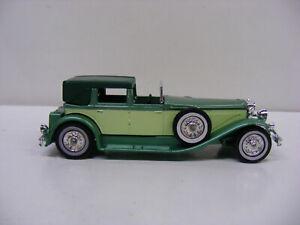 Matchbox Models of Yesteryear Y4 1930 ModelJ Duesenberg Green Lesney England