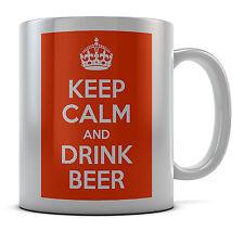 Keep Calm And Drink Beer Mug Cup Gift Idea Present Birthday Coffee Tea