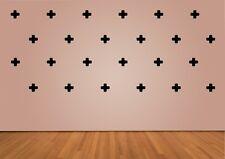 Cross Shape Wall Sticker Set of 36. 60mm . Choose your colour