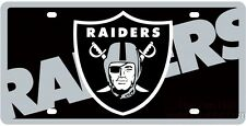 Oakland Raiders Print MEGA Style Deluxe Laser Acrylic License Plate Tag Football