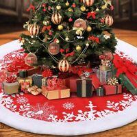 122cm Christmas Tree Skirt Floor Mat Xmas Ornaments Party Home Holiday Decor