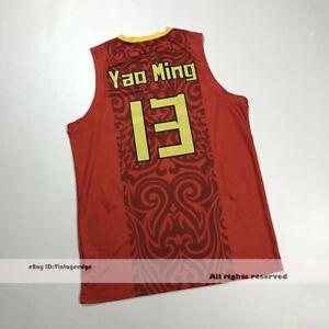 Throwback Yao Ming #13 Team China Basketball Jerseys Yao's Jerseys