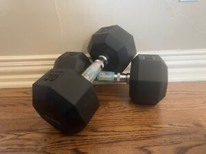 NEW IGNITE SPRI 30 LB (60lbs total) Rubber Cap Hex Dumbbell Pair FAST SHIPPING