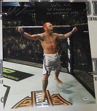Chris Leben Signed 16x20 Photo PSA/DNA UFC 132 Wanderlei KO Picture Autograph