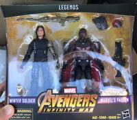 "Marvel Legends 6"" MCU Falcon + Winter Soldier Avengers Infinity War New Bucky"