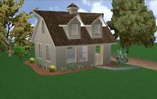 16x20 Cabin w/Loft Plans Package, Blueprints & Material List