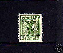 GERMANY - 1945 - BERLIN BEAR - (R) - MINT -  MNH - SINGLE!