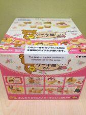 Re-Ment Miniature Sanrio San X Rilakkuma Dessert Cake Bakery Full Set of 8 pcs