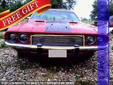 GTG 1972 - 1974 Dodge Challenger 1PC Polished Upper Insert Billet Grille Grill