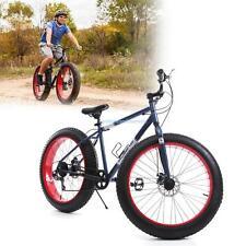 "26"" Fat Tire 7 Speed Mountain Bike Snow Bike Off Road Dirt Beach Snow Shimano"