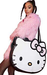 BNWT Dolls Kill x Hello Kitty Head INSTANT CUTENESS MEGA TOTE BAG Sanrio Vegan