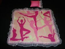 doll bedding for 18 inch american girl pink ballet silhouette blanket pillow