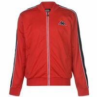 Kappa Mens Tri Colour Jacket Tracksuit Top Coat Long Sleeve Lightweight Zip Full