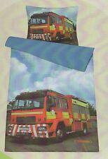 Kinderbettwäsche Bettwäsche Feuerwehr 135 x 200 cm