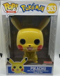 "FUNKO POP! 10"" PIKACHU Pokémon TARGET EXCLUSIVE Figure"