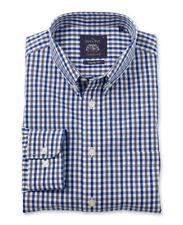 Cotton Check Single Cuff No Formal Shirts for Men