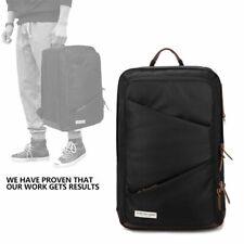Mens 14 Inch Laptop Shoulder bag Travel Business Backpack School Bag Black