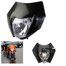 Black PP Plastic Headlight Lamp For Dirt Bike KTM RSX EXC XC XCF SXF 65 85 105