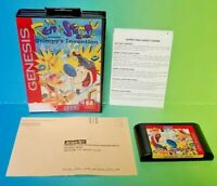 Ren & Stimpy Show Stimpy's Invention Game - Sega Genesis Box Rare Tested