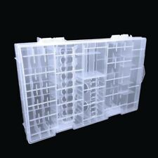 Container AAA/AA/C/D/9V Storage Box Case Battery Rack Transparent