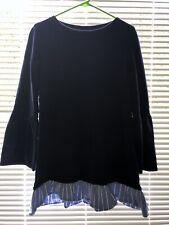 Tresics Ladies women's Blue 3/4 Sleeve Shirt Size Large top formal wear