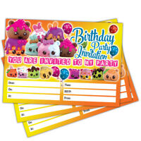 Num Noms Party Invitations | Pack of 20 Birthday Invite Cards | Child Kids Girls