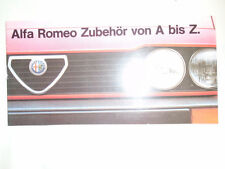 Alfa Romeo Accessories brochure c1980's German text small format