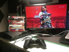 TESTED Sony PlayStation3 PS3 Slim Console Bundle CECH-2001A w/ 13 Games! A-Owned