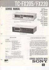 Sony-tc-fx205/fx220 - Service Manual grafico-b3185