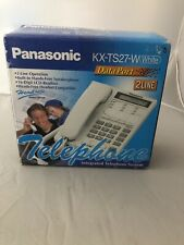 Panasonic KX-TS27-W 2 Line Phone - NEW /White